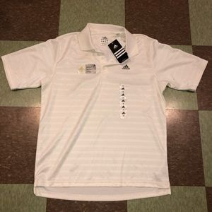 Adidas striped polo silky md men's golf